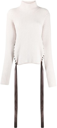 Nina Ricci Ribbed Knit Roll Neck Jumper