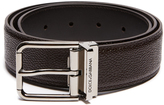 Dolce & Gabbana Grained-leather belt