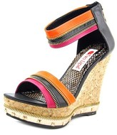 Two Lips Willow Open Toe Synthetic Wedge Sandal.