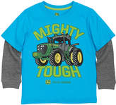 John Deere Cyan 'Mighty Tough' Layered Tee - Boys