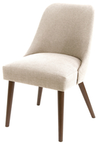 Skyline Furniture Rounded Back Linen Dining Chair