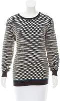 Jonathan Saunders Crew Neck Textured Sweater