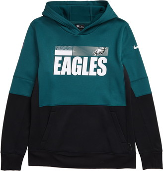 Nike Kids' Dri-FIT Therma NFL Logo Philadelphia Eagles Hoodie