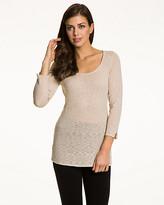 Le Château Slub Yarn Scoop Neck Sweater