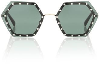 Valentino crystal-embellished sunglasses