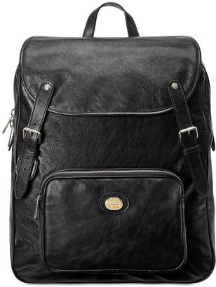 Gucci Men's Medium Leather Buckle Backpack