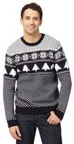 Red Herring Big And Tall Navy Fair Isle Crew Neck Jumper