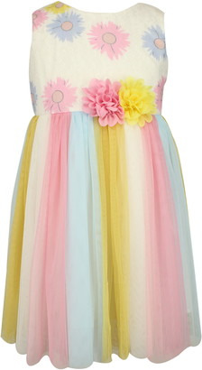 Popatu Floral Print Tulle Dress