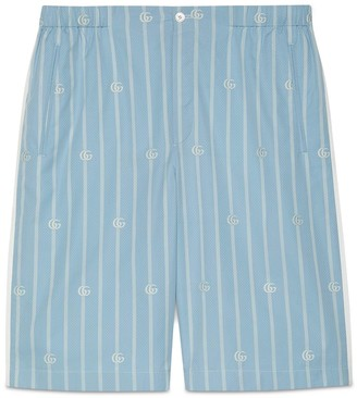 Gucci Double G stripe cotton shorts