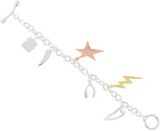 Rlm Jewelry By Robert Lee Morris RLM Bronze Tri-Color Charm Bracelet