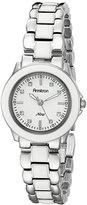 Swarovski Armitron Women's 753888WTSVWT Crystal Silver-Tone and White Enamel Bracelet Watch
