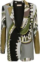 Emilio Pucci Printed crepe blazer