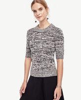 Ann Taylor Marled Short Sleeve Sweater