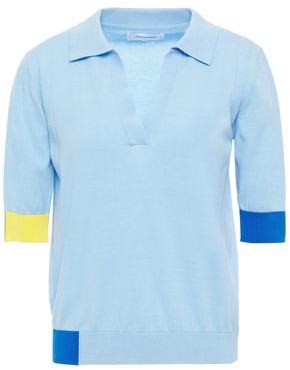 Chinti and Parker Color-block Cotton Polo Shirt