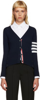 Thom Browne Navy Cashmere Classic Cardigan