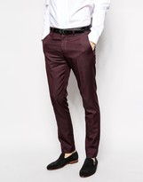 Selected Homme Selected Tuxedo Trousers In Skinny Fit