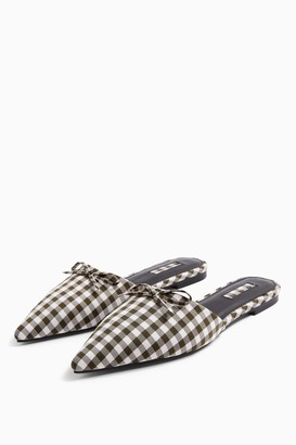Topshop ALIX Black and White Point Mules