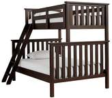 Pottery Barn Kids Elliott Twin over Full Bunk Bed, Chocolate
