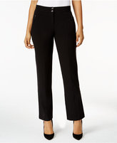 JM Collection Double-Button Career Pants, Only at Macy's