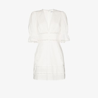 Reformation Cassatt lace trim mini dress