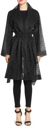 Alaia Silk Organza Floral Topper Dress
