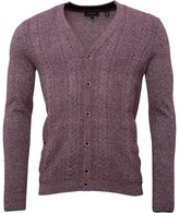 Ted Baker Mens Exford Cabled Cardigan Red