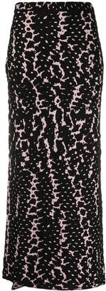 Christian Wijnants Snake-Intarsia Skirt