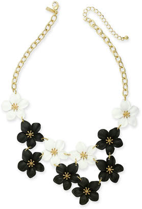 "INC International Concepts Inc Gold-Tone Resin Flower Statement Necklace, 19"" + 3"" extender"