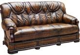 """Gerdie Leather Sofa Bed 78"""" Sleeper Red Barrel Studio"""