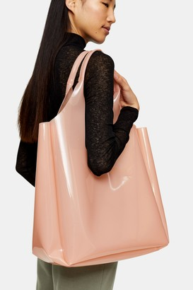 Topshop Womens Jelly Pink Tote Bag - Pink