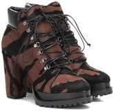 Alaia Zebra-print calf hair ankle boots