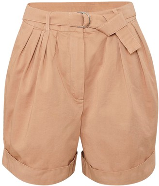 Acne Studios Beige Pleated Cuffed Shorts