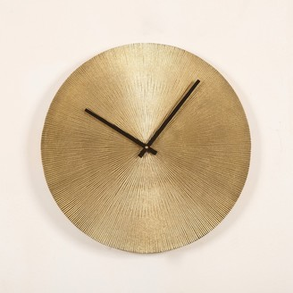 J & K Europe Imports Antique Brass Wall Clock Large