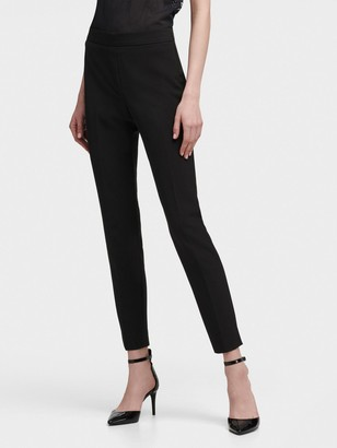 DKNY Women's Straight-leg Pant With Side Zip - Black - Size 6