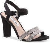 Nina Sylvie Block-Heel Evening Sandals