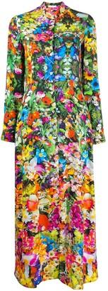 813 Floral-Pattern Dress