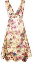 Comme des Garcons floral print suspender skirt