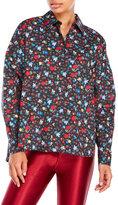 Love Moschino Long Sleeve Woven Floral Shirt