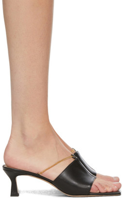 Wandler Black Isa Kitten Heeled Sandals