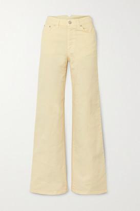 HOLZWEILER Oda High-rise Wide-leg Jeans - Yellow