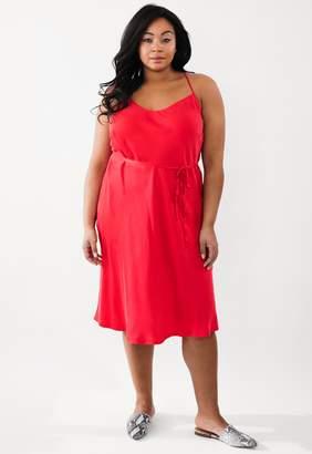 Marée Pour Toi Maree Pour Toi Red Silk Slip Dress Size 12