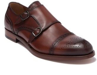 Antonio Maurizi Leather Cap Toe Double Monk Strap Shoe