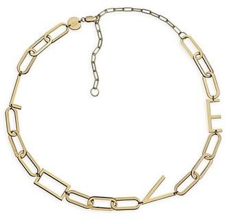 Jennifer Zeuner Jewelry Rissa 14K Goldplated Love Charm Necklace
