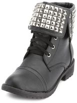 Charlotte Russe Pyramid Stud Combat Bootie
