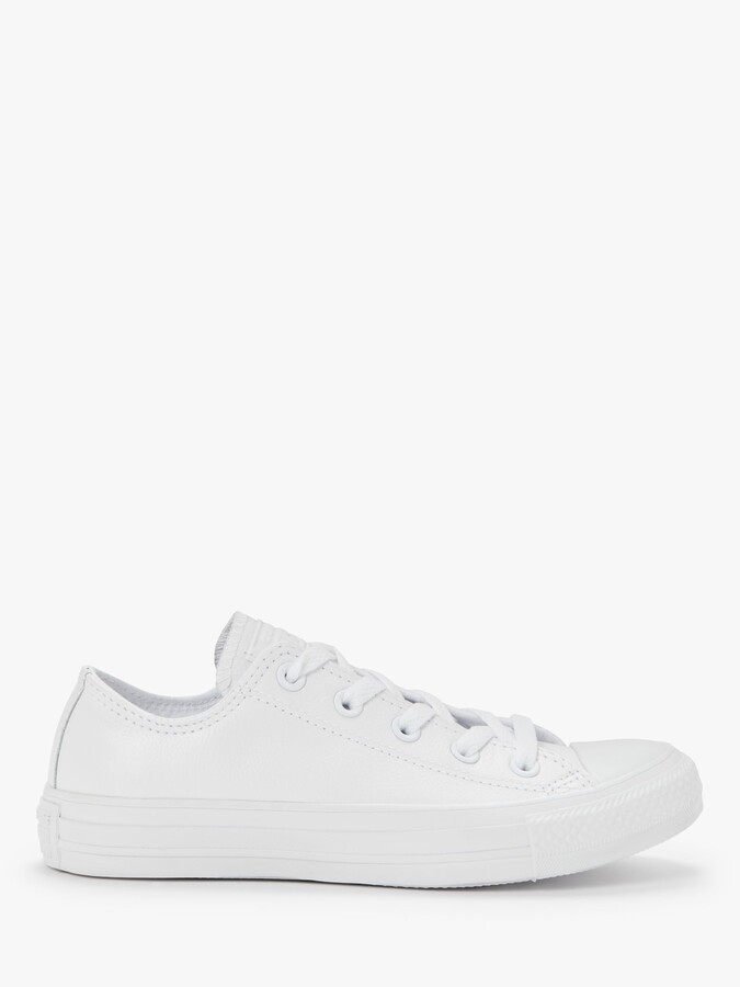 Thumbnail for your product : Converse Chuck Taylor All Star Ox Leather Trainers, White