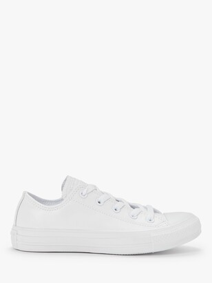 Converse Chuck Taylor All Star Ox Leather Trainers, White