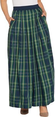 Joan Rivers Classics Collection Joan Rivers Regular Length Holiday Plaid Maxi Skirt