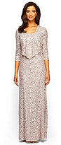 Alex Evenings Petite Lace A-Line Jacket Dress