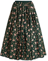 Ashish Floral-embellished cotton skirt