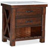Pottery Barn Benchwright Single Sink Console - Rustic Mahogany Finish